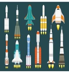 Rocket set vector image