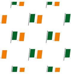 waving flag of ireland pattern seamless vector image
