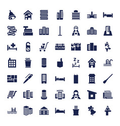 49 hotel icons vector
