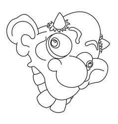 a cartoon funny imp vector image