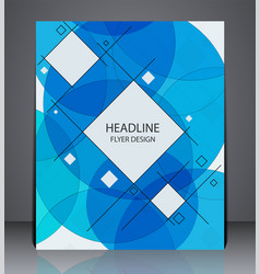 abstract business brochure flyer geometric design vector image