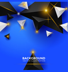 abstract white blue and black triangle background vector image