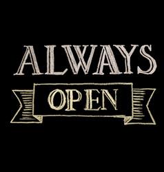 Always open vector