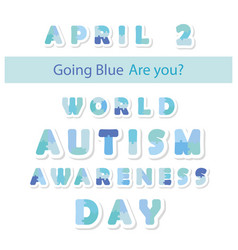 Autism awareness information banner puzzle vector
