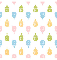 baby seamless bottle pattern vector image
