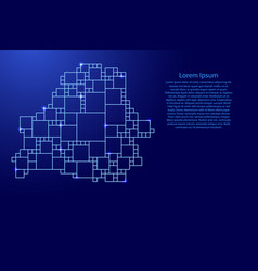 Belarus map from blue pattern from a grid of vector