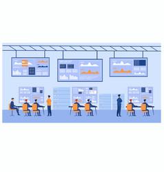 Big data control center vector