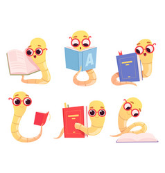 bookworms cartoon back to school character vector image