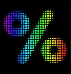 Bright dot percent icon vector