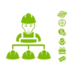 Builder Management Icon With Free Bonus vector