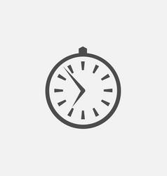 business symbol of clock web line vector image