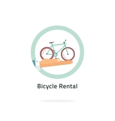 Bycicle rent badge rental icon logo vector
