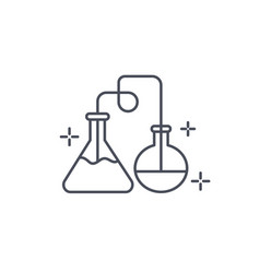 Chemistry icon showing distillation process vector