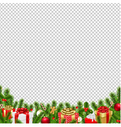 Christmas border transparent background vector