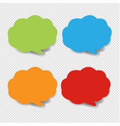 colorful speech bubble collection transparent vector image
