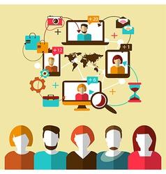 Communication Social network vector image