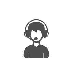 Consultant service icon call center sign vector