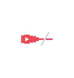 Cordcutting logo tv cable icon vector