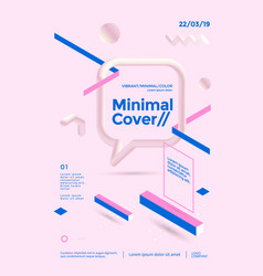 Creative design poster with isometric shape vector