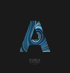 Curly textured letter a vector