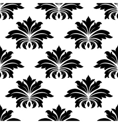 Damask seamless pattern with bold flowers vector