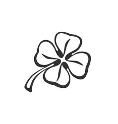 Doodle clover vector
