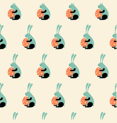 easter bunny s vector image