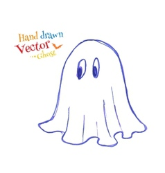 Felt pen childlike drawing of cute ghost vector image