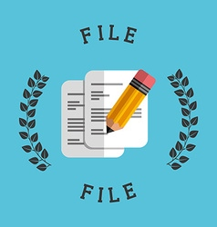 files icon vector image