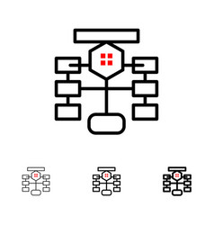 Flowchart flow chart data database bold and thin vector