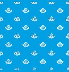 flower elegance pattern seamless blue vector image