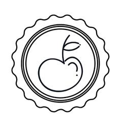 Fresh apple fruit vector