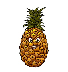 Fun cartoon tropical pineapple fruit vector image
