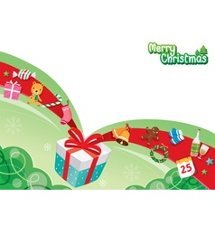 Gift Box And Ornaments vector image