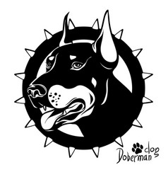 Graphic drawing of a dog head service vector