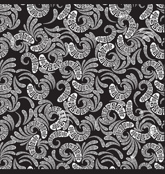 greek style floral paisley seamless pattern vector image