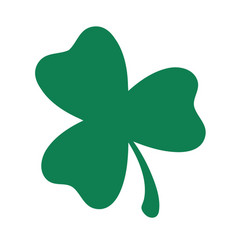 green shamrock clover icon st patrick day vector image