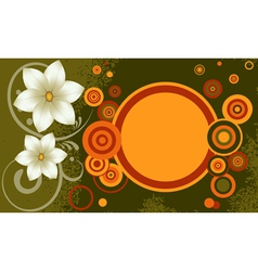 Grunge background with flowers vector