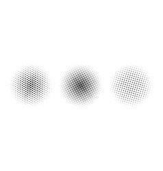 halftone circles set gradient dotted vector image