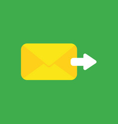 icon concept of sent mail envelope with arrow vector image