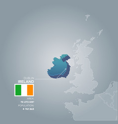 ireland information map vector image