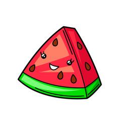 Kawaii cute watermelon vector