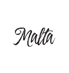 Malta text design calligraphy typography vector