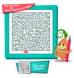 Maze what is pictured donkey vector