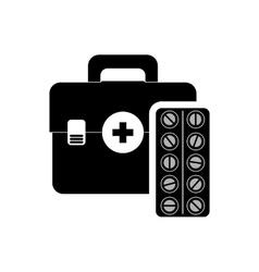 Medical kit health care design vector