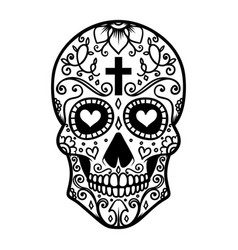 mexican sugar skull day of the dead dia de los vector image