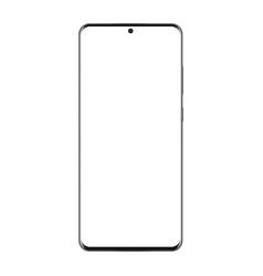 modern frameless mobile phone mockup isolated vector image