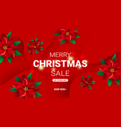 modern minimal red christmas greeting card with vector image