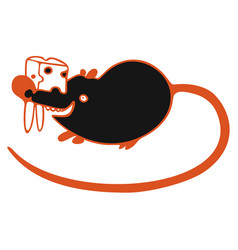 modern with black cute mouse vector image