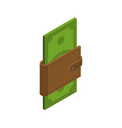 money in your wallet cash in purse dollars in vector image